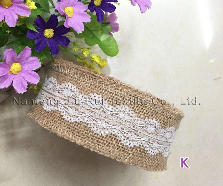 DIY accessoire 5cmW * 2 mètre / rouleau de toile de jute 100% de haute qualité naturelle jute ceinture de mariage multifuction décoration de fête