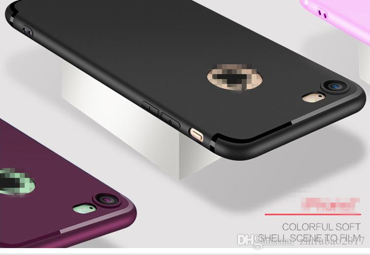 Factory direct sales For iphone 7 Phone Case shell grinding sand TPU pure silica gel sleeve simple 6splus hand case