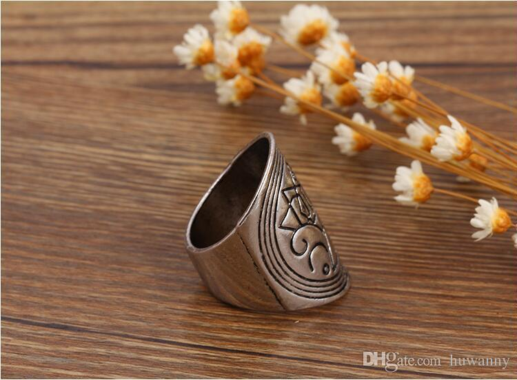 Tibetan Silver rings Hot Sale Retro Exquisite Cute Personality Punk Style Finger Nail Rings Fashion Jewelry wholesale 0044WR