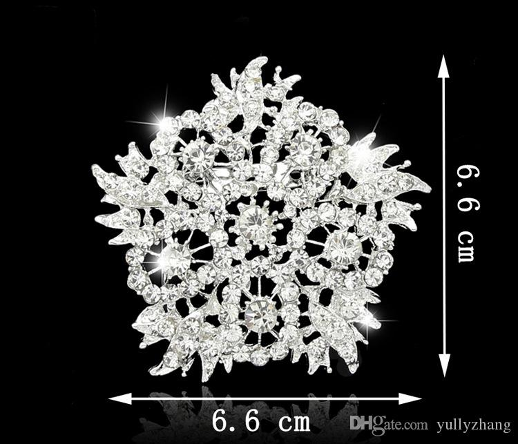 Jewelry Europe And The United States Jewelry Fashion Multicolor Big Flower Crystal Brooch For Women 2016 Wholesale Jewelry B053