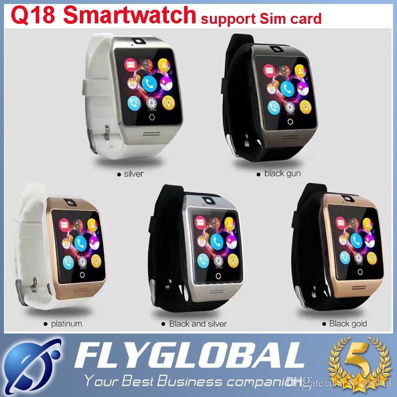 2016 Smart Watch Q18 Smartwatch Bluetooth Wearable Curved Screen