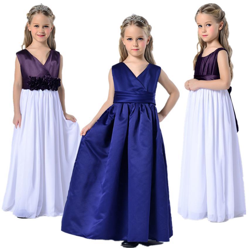 Pageant Dresses For Girls Purple Jr. Bridesmaid Wedding