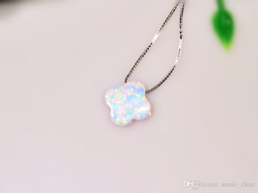 Monili all'ingrosso di vendita al dettaglio fine bianco / blu / rosa opale di fuoco opale di pietra pietra pendenti placcati argento le donne PJ16060202
