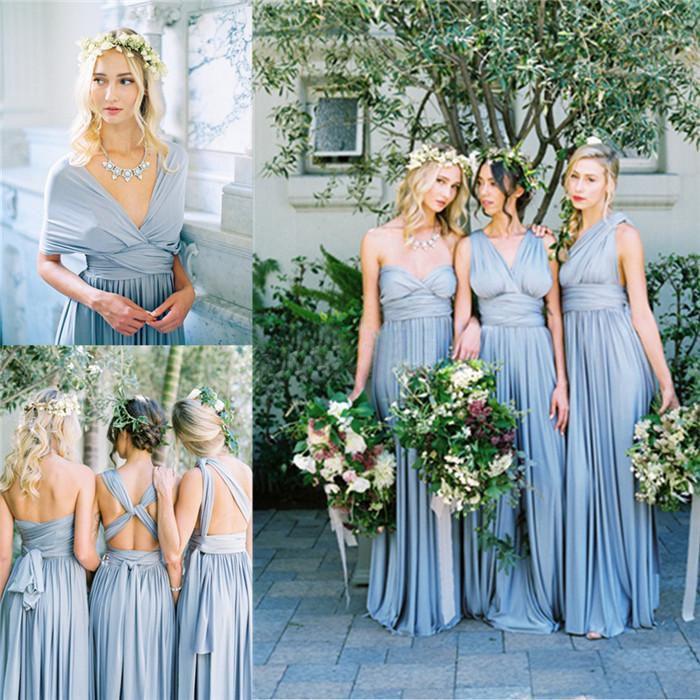 Long bridesmaid dresses for summer wedding
