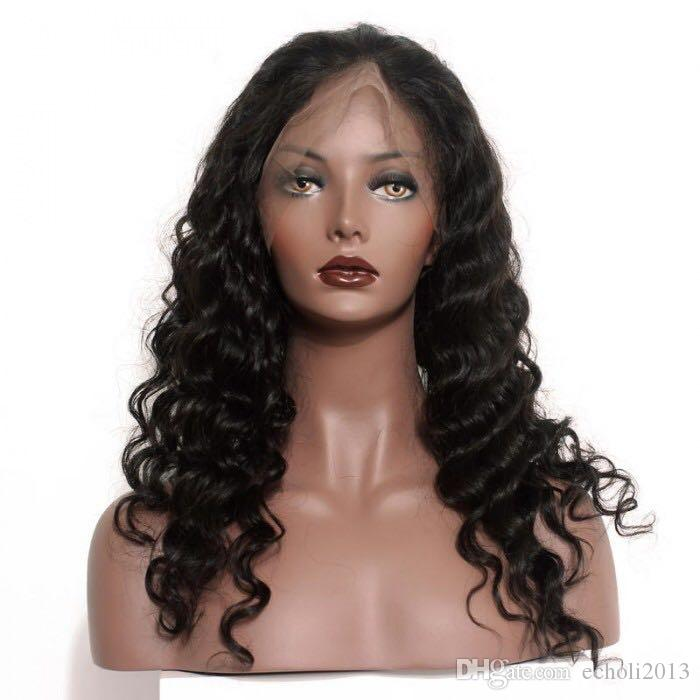 360 Frontal Wig-loose wave 250 Density Wig Brazilian Remy 100 Human Hair Full Lace Wigs with Baby hair and Natural Hairline