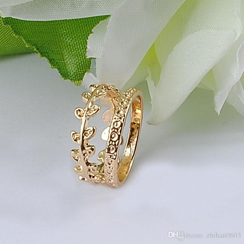 New Fashion Ladies Alloy Ring 100% Environmentally Friendly Material Gold Plating Large Drop Shipping