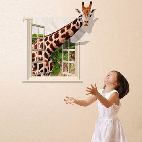 !!! 3d Lovely Giraffe Wall Sticker Decal Animal Wallpaper Living Room Home  Decor Art Mural Your Best Choice Bedroom Wall Decals Bedroom Wall Stickers  From ...
