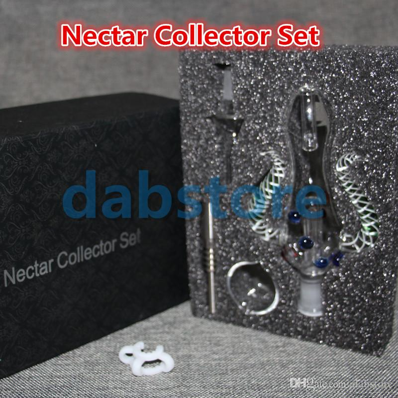 WHOLESALE Nectar Collector kit honey straw Glass pipe water pipes 2.0 NECTAR COLLECTOR HONEY STRAW KIT OIL DABBER