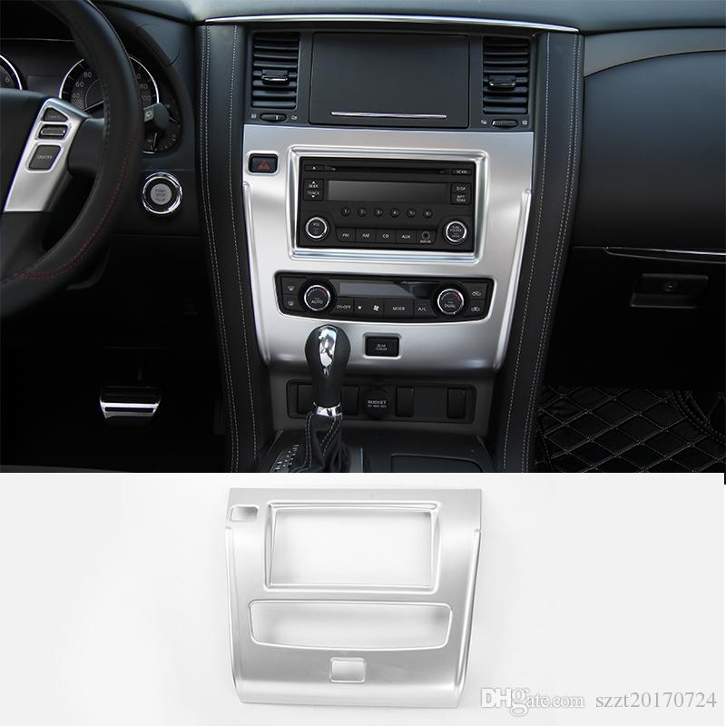 Center Console CD Panel Frame Decoration Covers Ring Fit Car Interior  Accessories For Nissan Patrol 2017