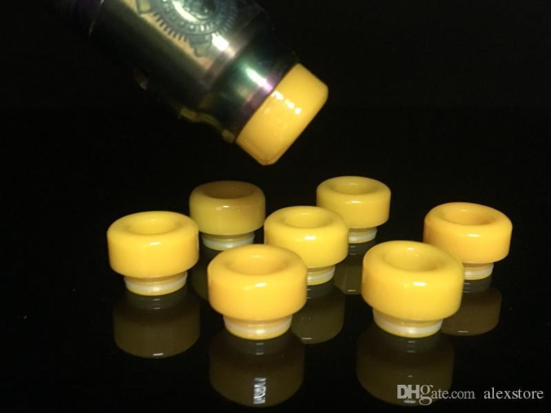 Beeswax Material 810 Drip Tip Yellow Mouthpiece fit TFV8 Prince Tank Kennedy 24 Goon 528 Apocalypse GEN AV RDA Vape E-cigarette Accessories