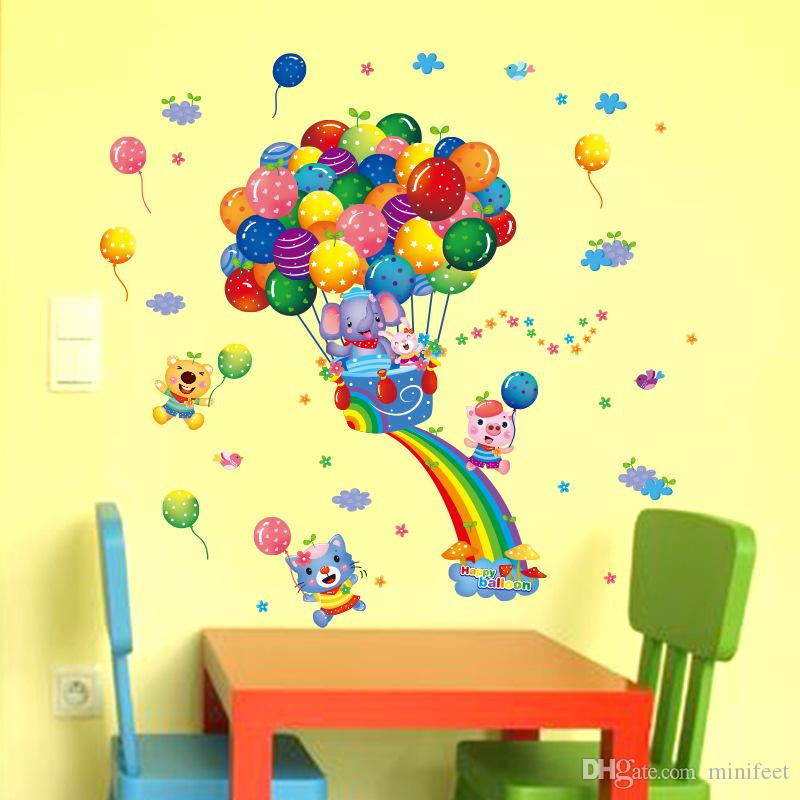 Cartoon Balloon wall stickers Can be removed waterproof stickers PVC wallpaper children bedroom background adornment