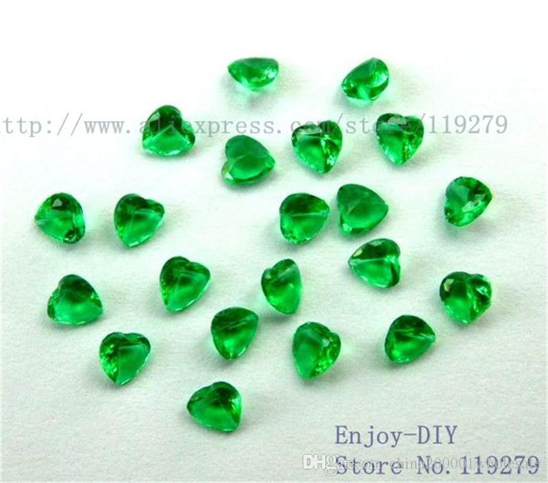 DIY accessories 3mm/4mm/5mm Mix-color Heart Birthstone Floating Charms For Glass Living Locket