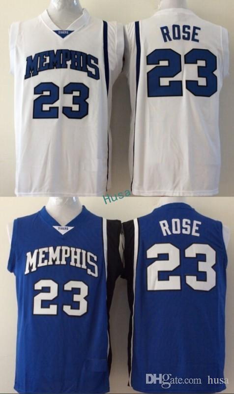 release date: 811b3 bf3bc ncaa basketball jerseys memphis tigers 23 derrick rose white ...