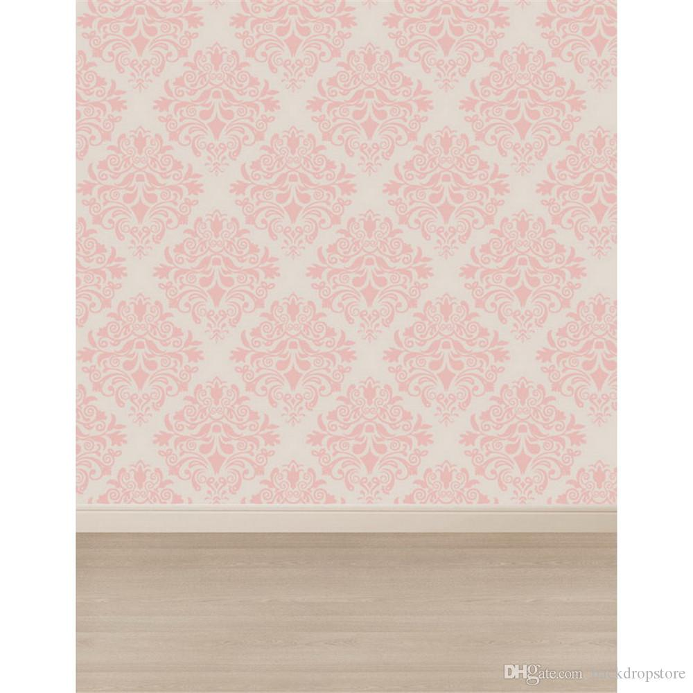 2018 Light Pink Damask Wall Photography Backdrops Vinyl