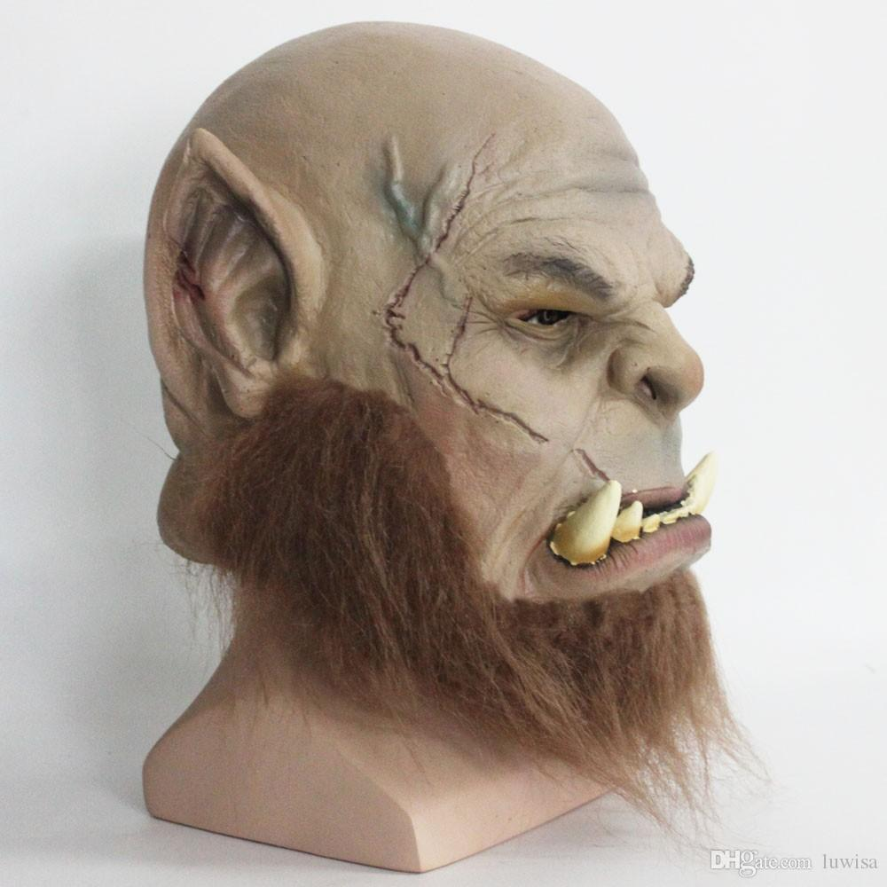 2017 Ogrim Doomhammer Latex Mask Party Halloween Mask From Luwisa ...