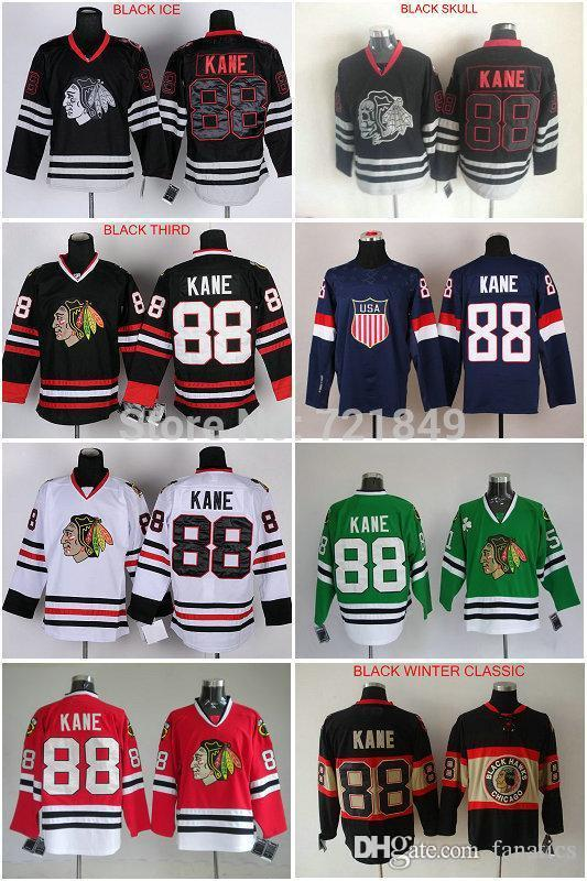 c5c0371fd 2019 2016 In The Winter Best Quality Chicago Blackhawks Jerseys  88 Patrick  Kane Mens Ice Hockey Jersey Black Skull Red Whit From Fanatics