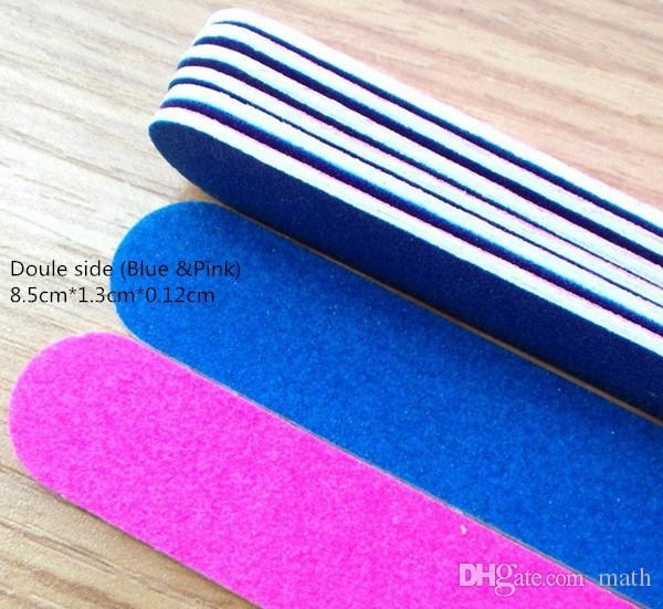 HIGH QUALITY 180/240 grit Professional Nail Files nail Buffer Buffing Slim Crescent Grit nail tools disposable