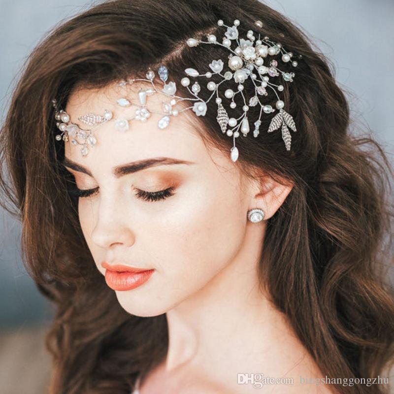 Newest Forehead Bridal Headpieces Crystal Vines Bridal Headband