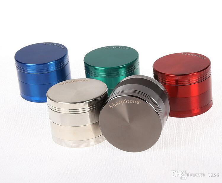 SharpStone herb metal grinder SharpStone 4 parts Hard top tobacco Grinders Diameter 50mm/55mm/63mm grinder tobacco