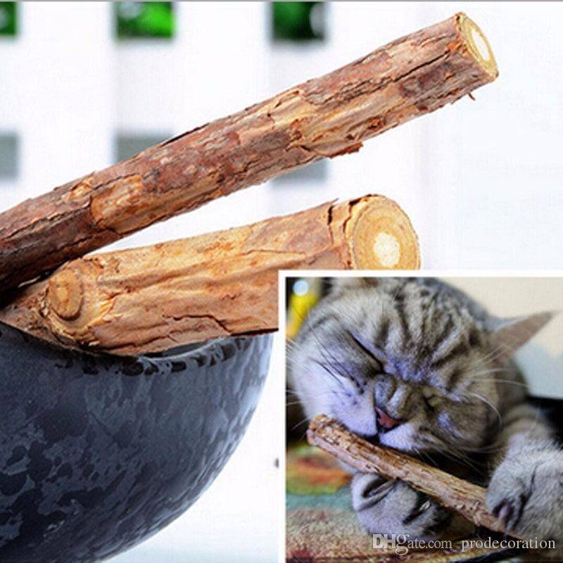Nueva moda Cat Molar Stick dientes de limpieza Pure Natural Catnip Cat Molar Pasta de dientes Stick Fruit Packet Cat Snacks Sticks