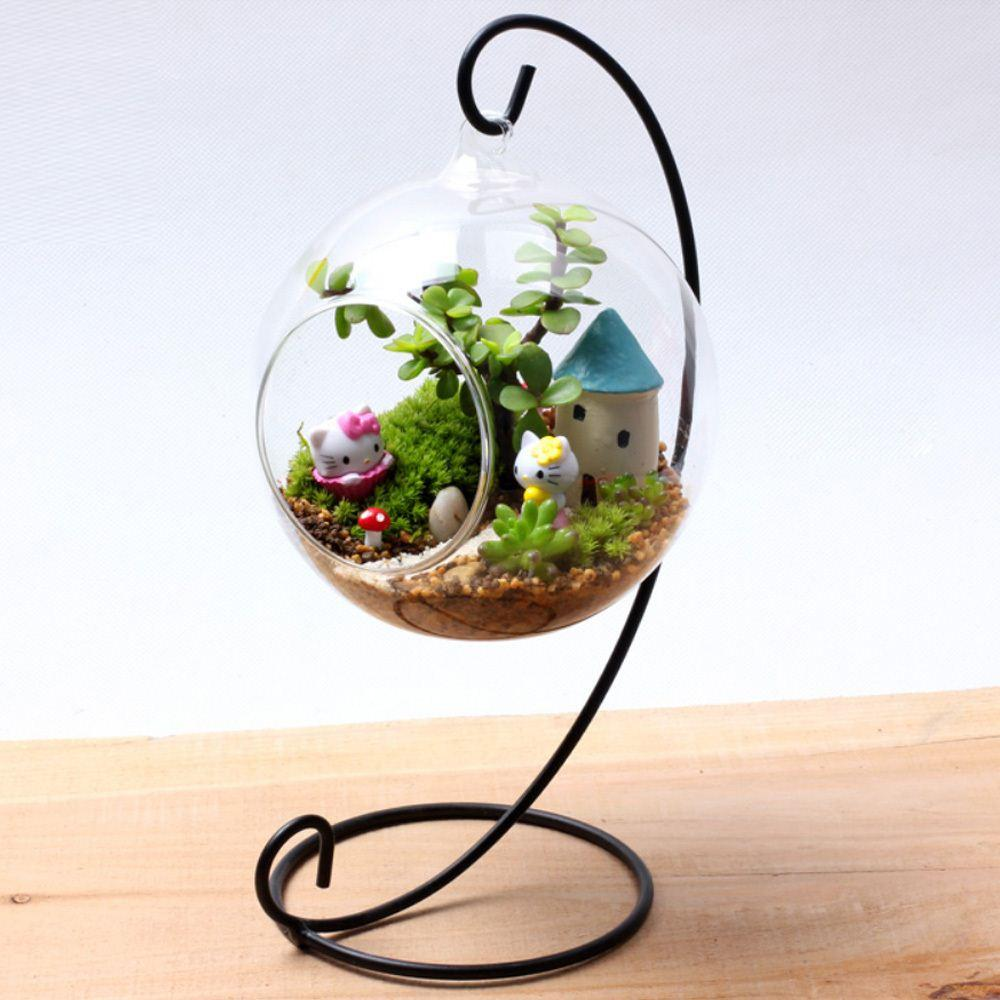 Hanging crystal glass plant flower vase pot hydroponic container hanging crystal glass plant flower vase pot hydroponic container terrarium pot stand ball home wedding decoration very large glass vases vintage vases reviewsmspy