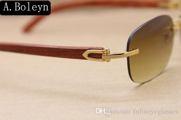 제조업체 도매 3,524,015 무테 우드 선글라스 안경 나무 남성 장식 나무 프레임 선글라스 프레임 크기 : 55-18-135 mm