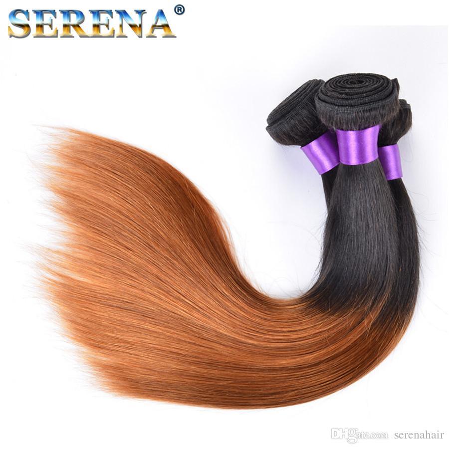 Ombre Human Hair Weave 1B 30 Brazilian Peruvian Indian Malaysian Hair Wefts Staight Human Blonde Bundle Deals Cheap Hair Extensions
