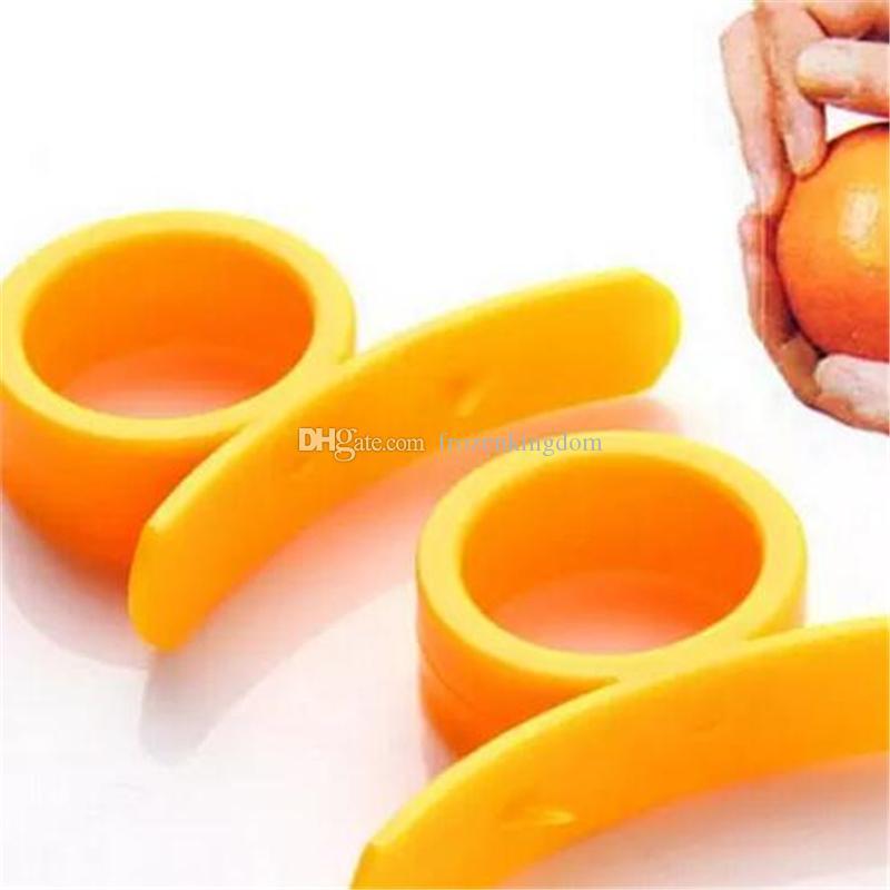 Оранжевый очистители Zesters устройство samll практичный оранжевый Стриппер открывалка фрукты овощной кулинария инструменты a69-a72