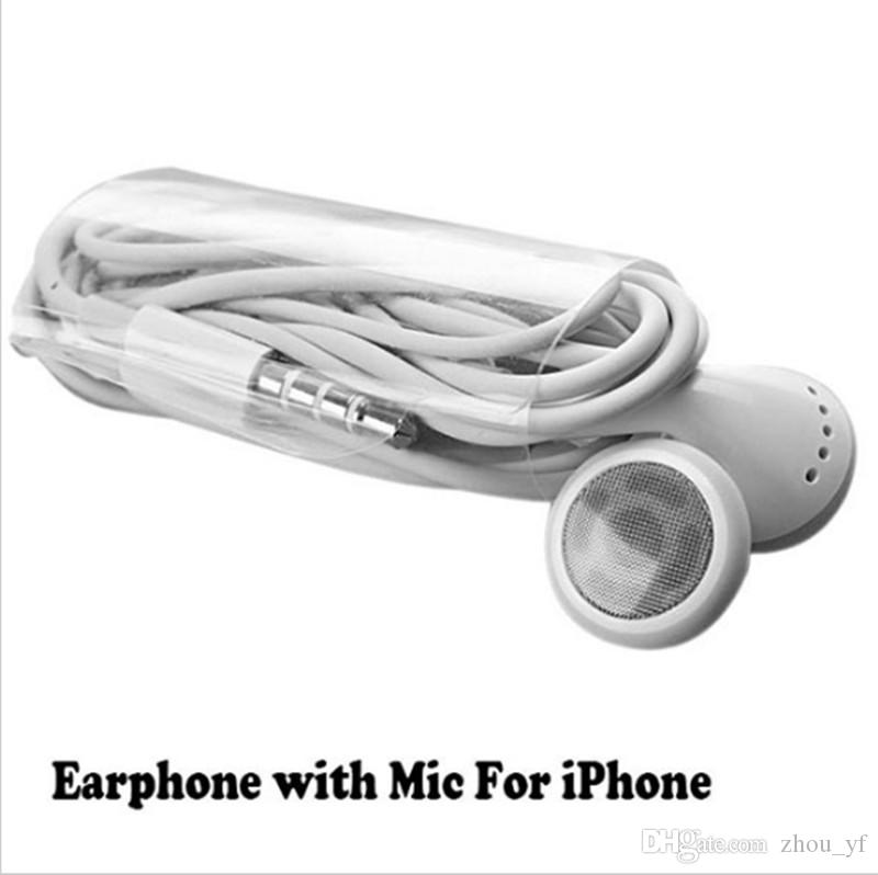 Earphone With Mic Microphone For iPhone 6 4.7 Plus 5.5 5 5G 5S 5C 4S 4 IPod IPad Mini Samsung Galaxy S5 S4 MP3 MP4 Player