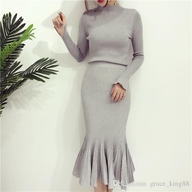 Autumn Winter New style Fashion Women's sweater Dress Knitdress Sexy party Dress Long sleeve Fashion beautiful skirt Dress Suit