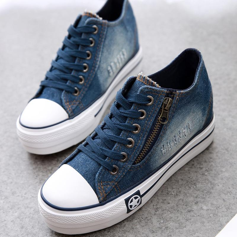 2016 New Canvas Shoes Fashion Leisure Women Shoes Female Casual Shoes Jeans  Blue 35 40 Buy Shoes Online Slip On Shoes From Happyjoin 5d624df72