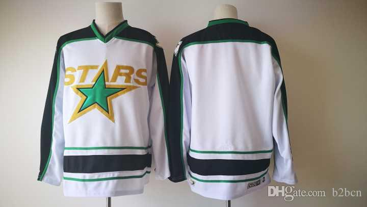 Vintage CCM Dallas Stars Hockey Uniforms White 14 Jamie Benn 91 Tyler Seguin 9 Mike Modano Mens Ice Hockey Jerseys Stitched