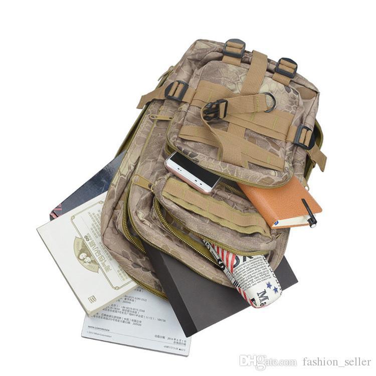 Livre DHL / Fedex Navio Adulto Mochilas Meninos Adolescentes CS militar Mochila Homens Esportes Ao Ar Livre das Mulheres de Escalada Cosplay Camuflagem Do Exército Sacos
