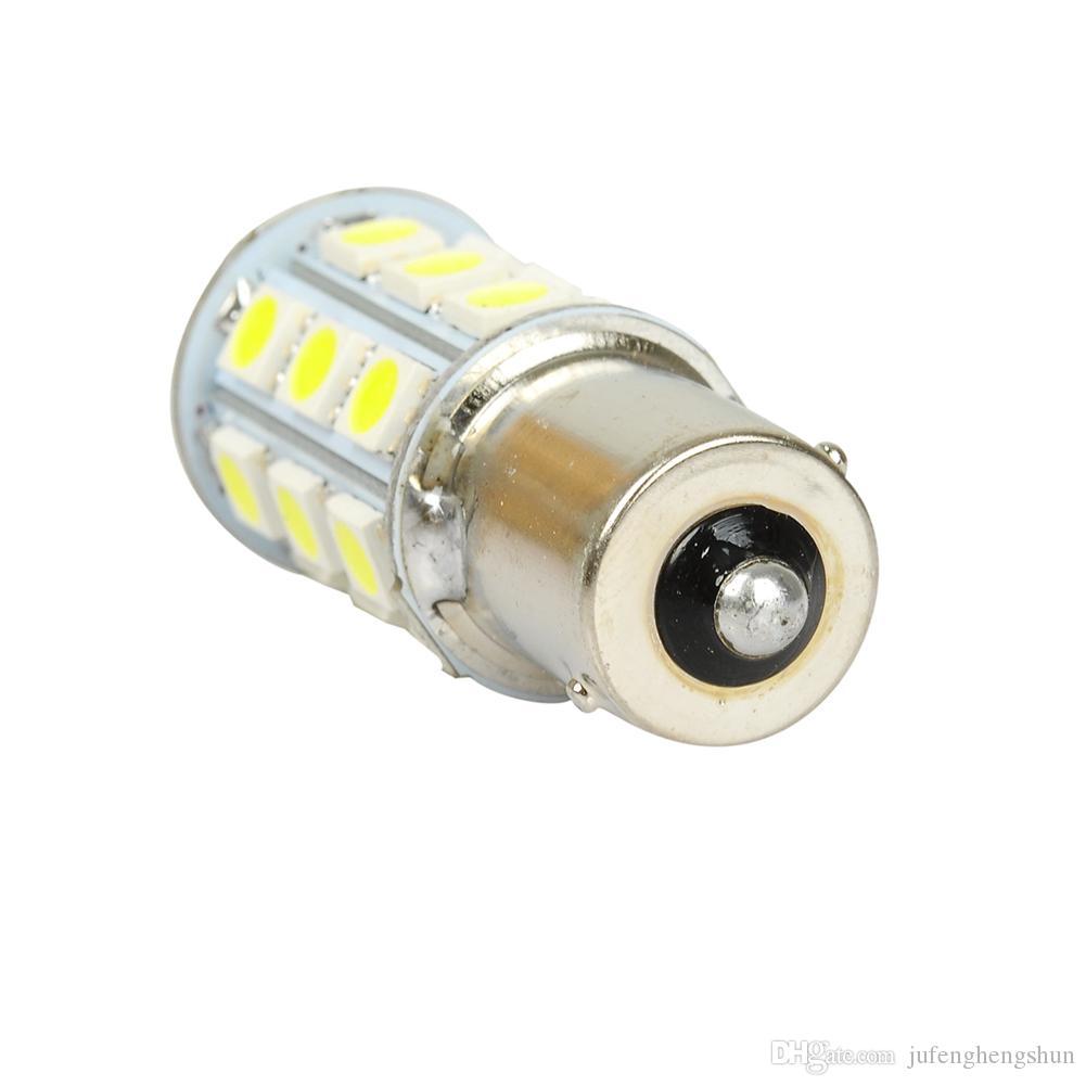 1156 Ba15s LED 자동차 전구 27 LED 5050 SMD DC 12V 백색 LED 전구 회전 신호 주차 사이드 마커 테일 라이트 범용 자동 램프