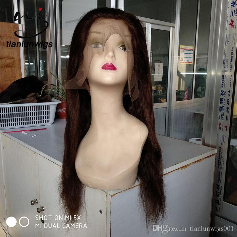 Heiße Verkaufsprodukte natürliche Kopfhautperücke des Haares mit 180 Dichten volle Spitzeperücke, vordere Perücke des kleinen Mengenauftrags vordere Spitzeperücke für Verkauf