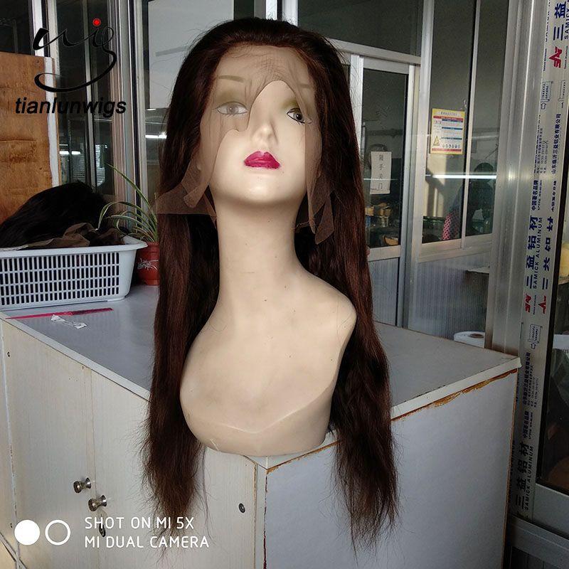 Venta caliente productos peluca del cuero cabelludo peluca del frente del cordón de la densidad del pelo 180 densidad peluca llena del frente del cordón, pequeña cantidad orden peluca del frente del cordón para la venta