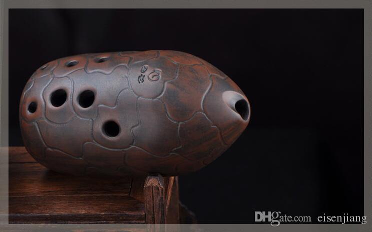 10 trous tonalité F / G Xun ancien instrument de musique flûte Ocarina pour débutant sympa Un Imitation de Chine en cuivre Xun