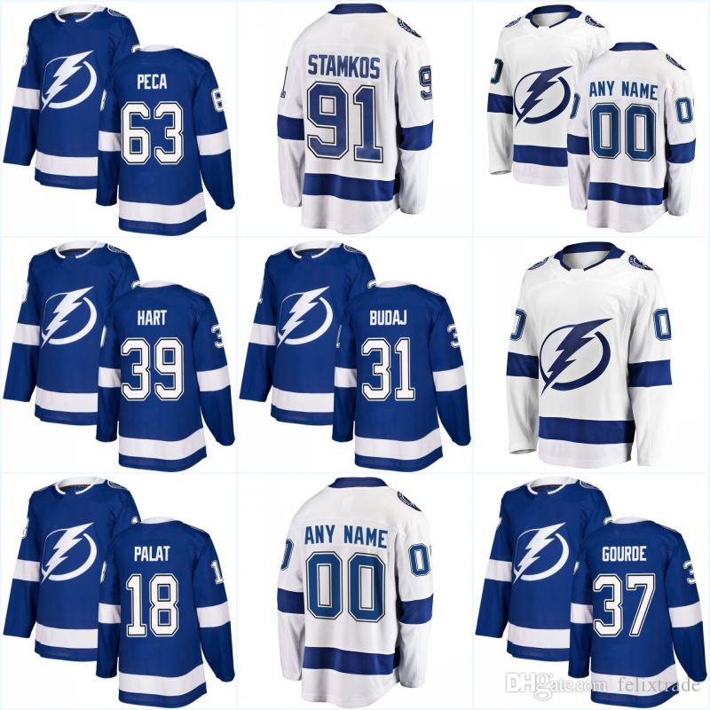2018 New Season Tampa Bay Lightning Jersey 13 Cedric Paquette 21 Brayden  Point 19 Cory Conacher 23 J.T. Brown Custom Hockey Jerseys UK 2019 From  Felixtrade dd9f30bce