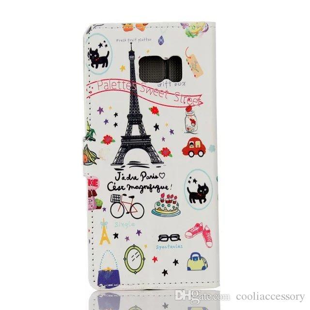 Blume Eule Brieftasche Ledertasche für iPhone 7 PLUS 7 plus Iphone7 Karte Stehen Schmetterling Eiffelturm Flagge Litschi Cartoon Zebra Abdeckung