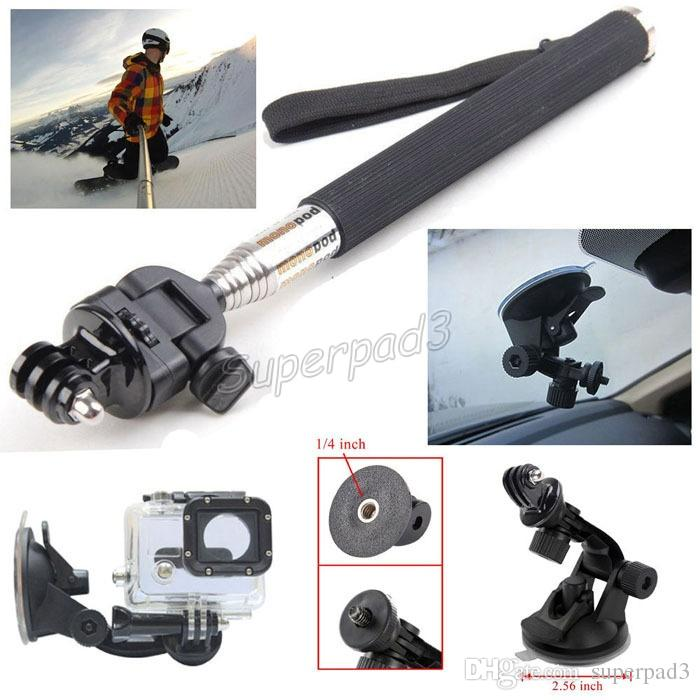 Cheap Gopro Tripods Monopods 13 in 1 kit Set Mount Handheld Floaty Bobber + M Size Carry Case For Hero Sports Action Camera