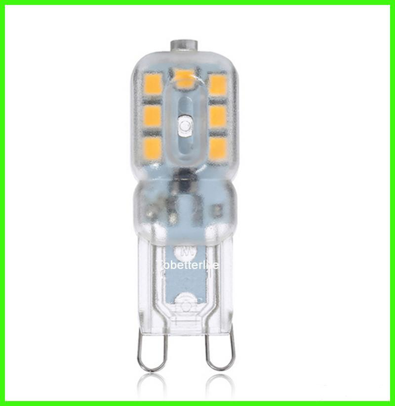 DHL G9 LED bulbs 3W SMD2835 AC220V mini LED corn light lamps to replace halogen light chandelier clear milky covering