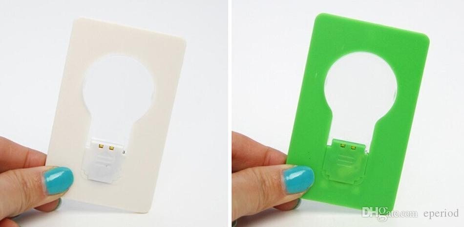 Novelty Light LED Credit Card Light Portable Pocket Fold switch LED Card Night Lamp Put In Purse Wallet Convenient Light