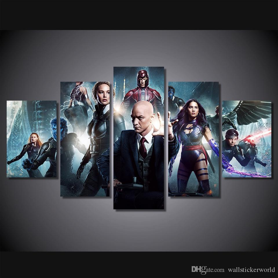 5 Pcs/Set Framed Printed x men apocalypse Painting Canvas Print room decor print poster picture canvas Free shipping/ny-4967