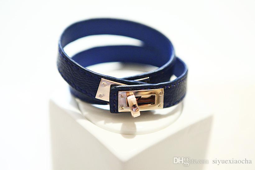 Punk style, Buckle Leather bracelet, Brangle, Locomotive Bracelets Rotary Valentine Day Gift Charms Braided Wrist,