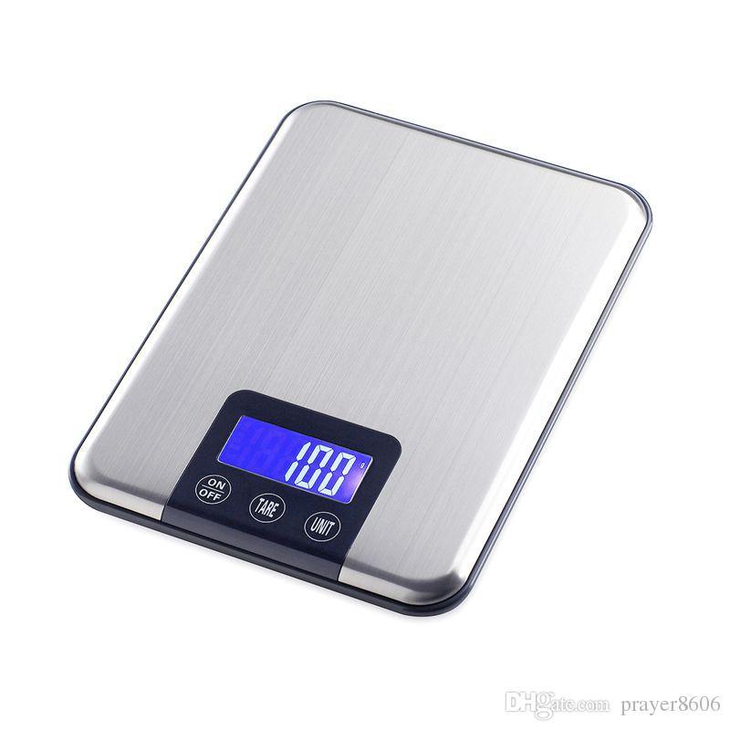 15kg1g digital kitchen scale slim stainless steel 15kg lcd