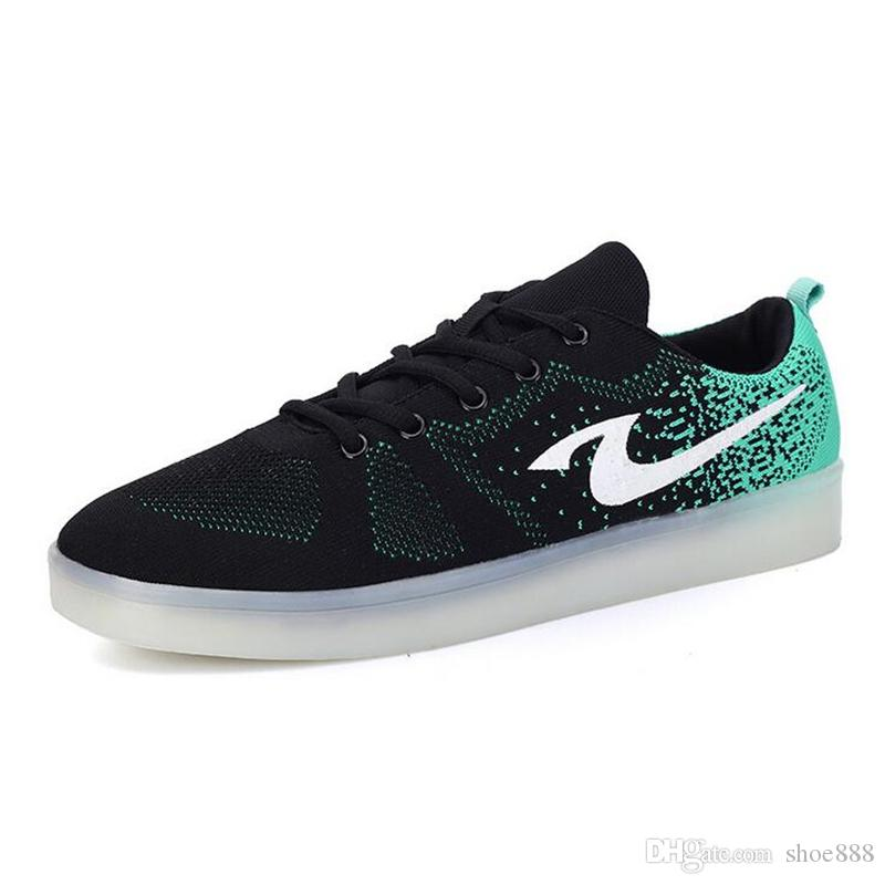 competitive price 66ab0 192f8 Lace-Up Casual LED Shoes for Men & Women Fashion Breathable Stan Smith  Shoes Waterproof Skateboard Shoes for Couples 437