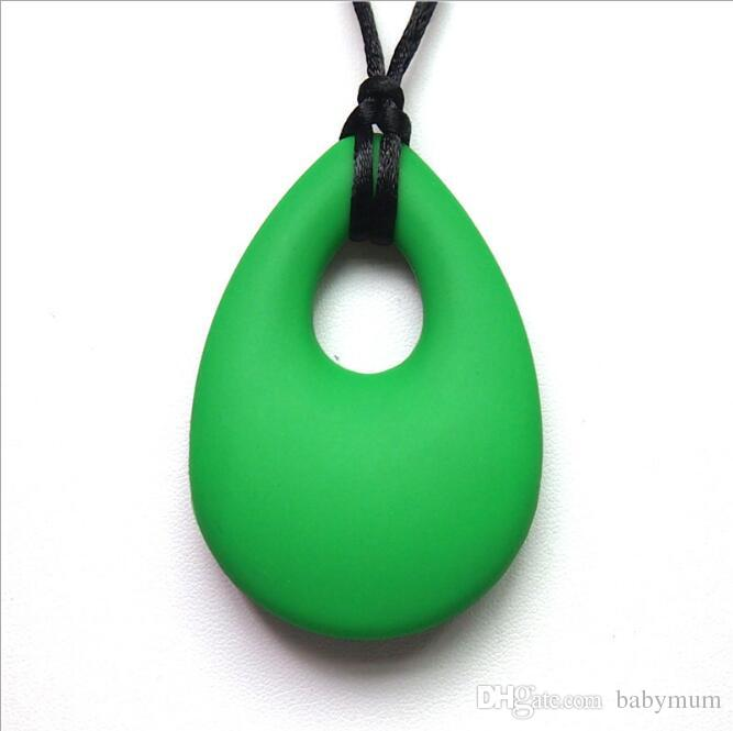 Natural Betring Bening Silicone Doitring Maman Collier Baby Dentition Pendentif Infant Teter Teher Chew Jouet Baby Safe Safe Beads