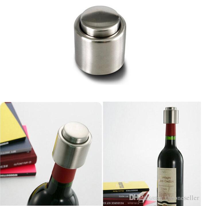 Бесплатная доставка горячая распродажа из нержавеющей стали вакуумной упаковке красного вина бутылка носик ликер потока пробка залить крышку