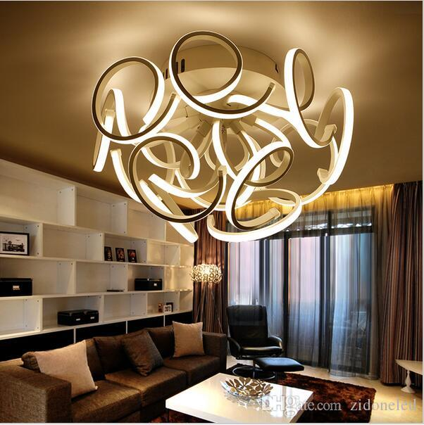 2019 New Modern Led Ceiling Lights For Living Room Bedroom Aluminum+Acrylic  Home Dec Modern Led Ceiling Lamp AC85 265V From Zidoneled, $198.1 |  DHgate.Com