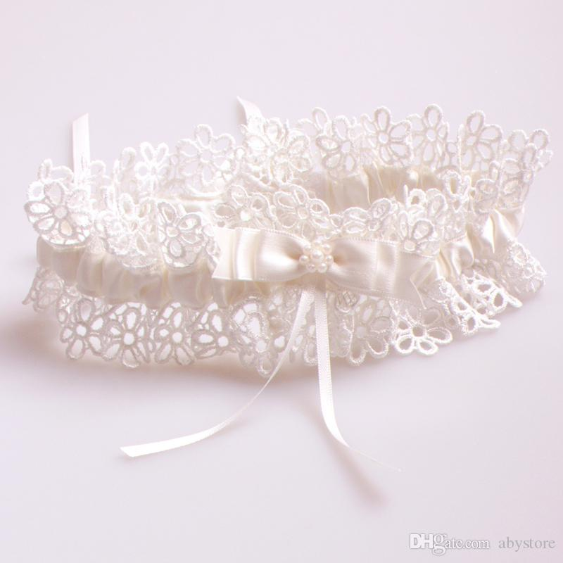 Ivory Garters Wedding: Sexy Ivory Lace Flower Wedding Leg Garter Ivory Bowknot
